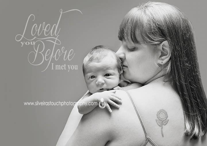 Newborn photography in Denville NJ of mom kissing her sweet boy