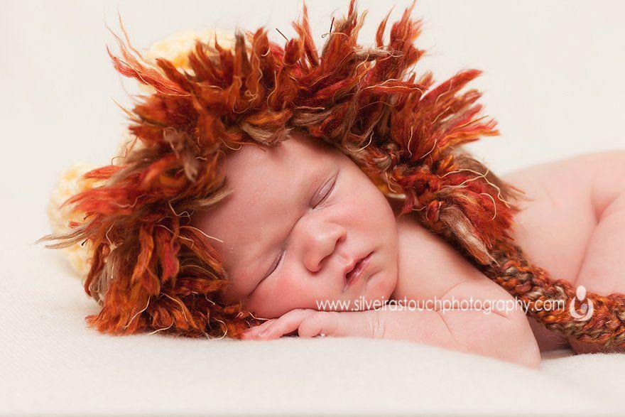 newborn photography baby lion