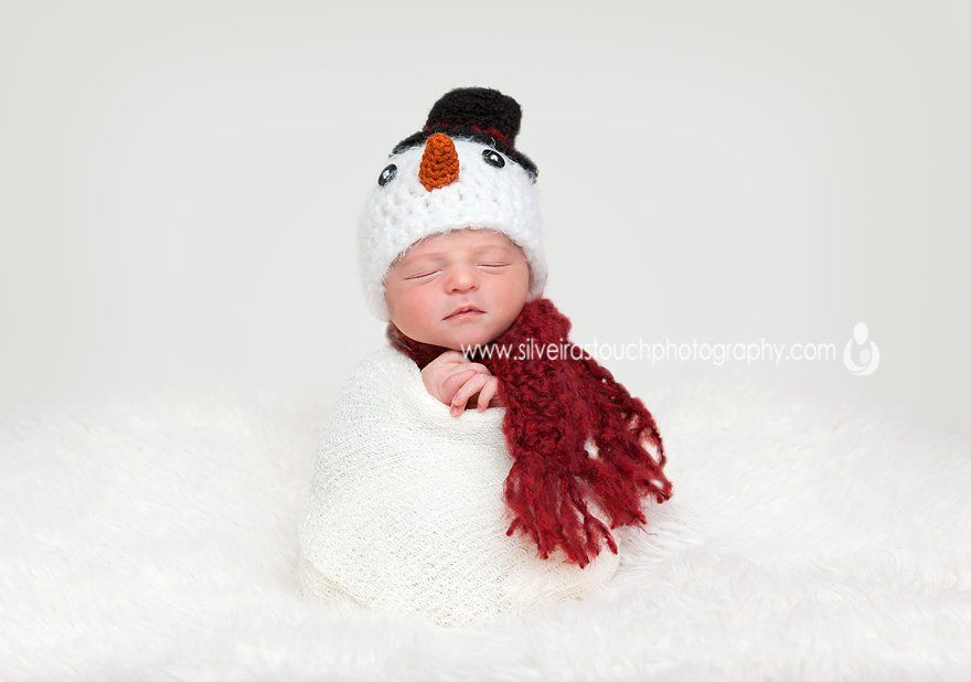 newborn snowman photography in maywood NJ