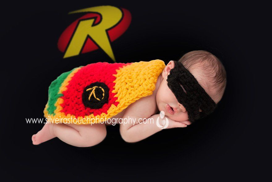 22 day old superhero Newborn Photography Bloomfield NJ