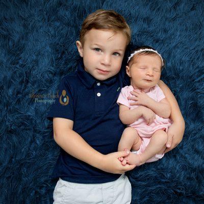 Verona NJ Newborn Photographer   Baby T & big brother