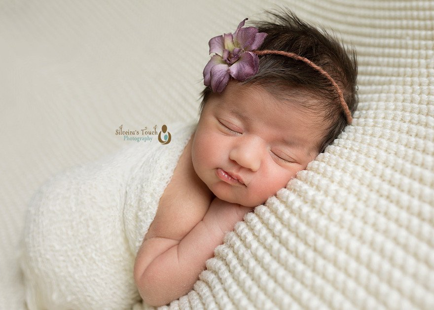 S. Orange NJ newborn baby girl session