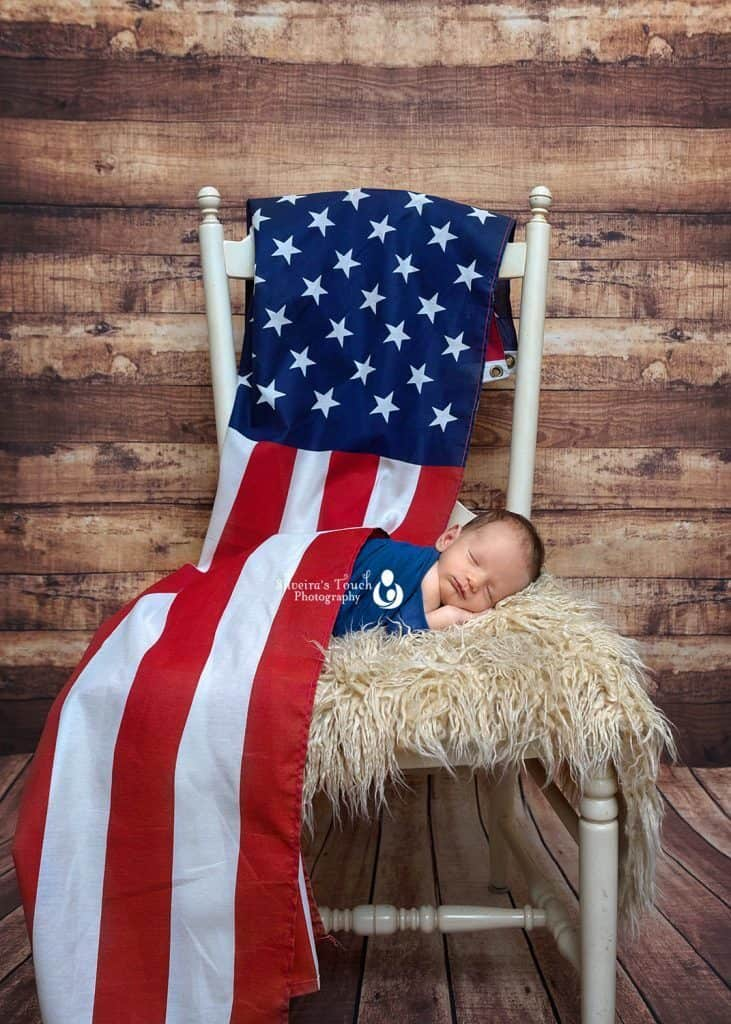 American flag baby photos