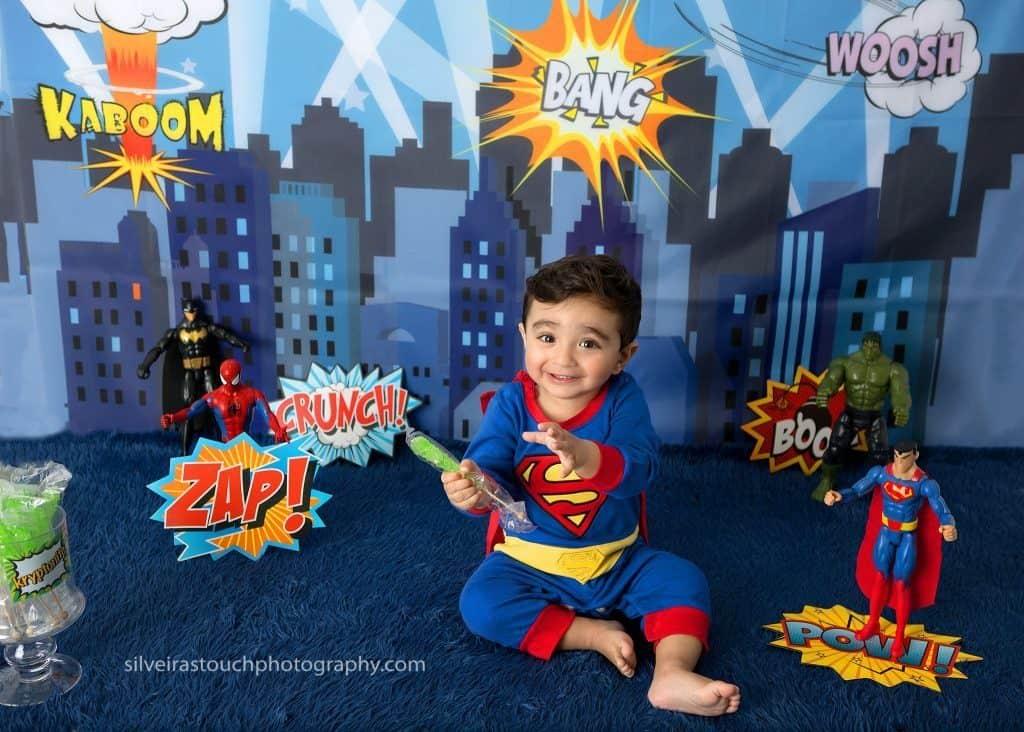 Super hero Birthday photos