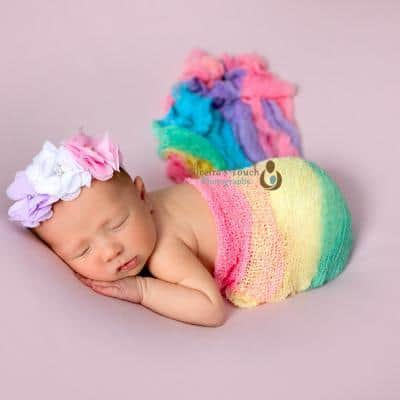 Rainbow Baby newborn photos