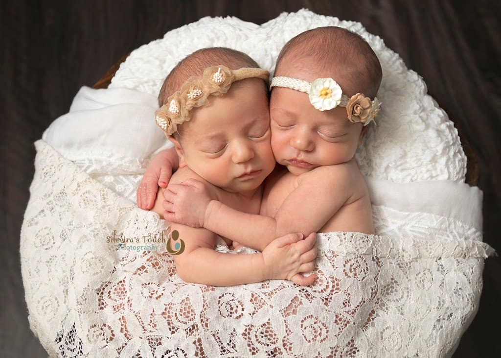 Morris County NJ newborn Twins photography sleeping on soft blanket