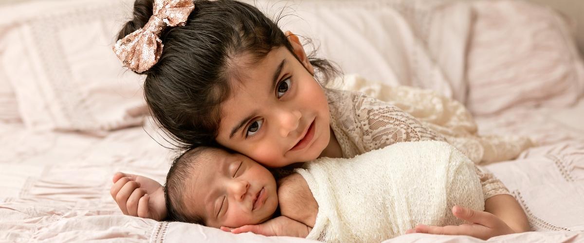 Newborn sibling photography Morris County NJ