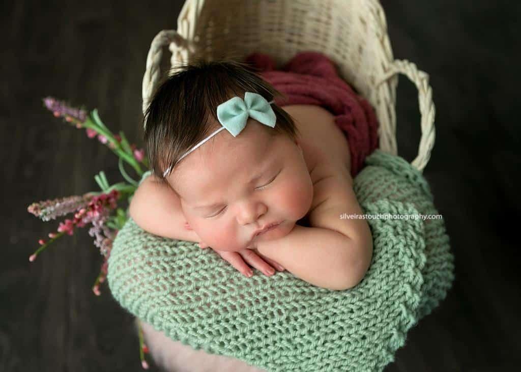 Flanders NJ Newborn Photography baby in basket