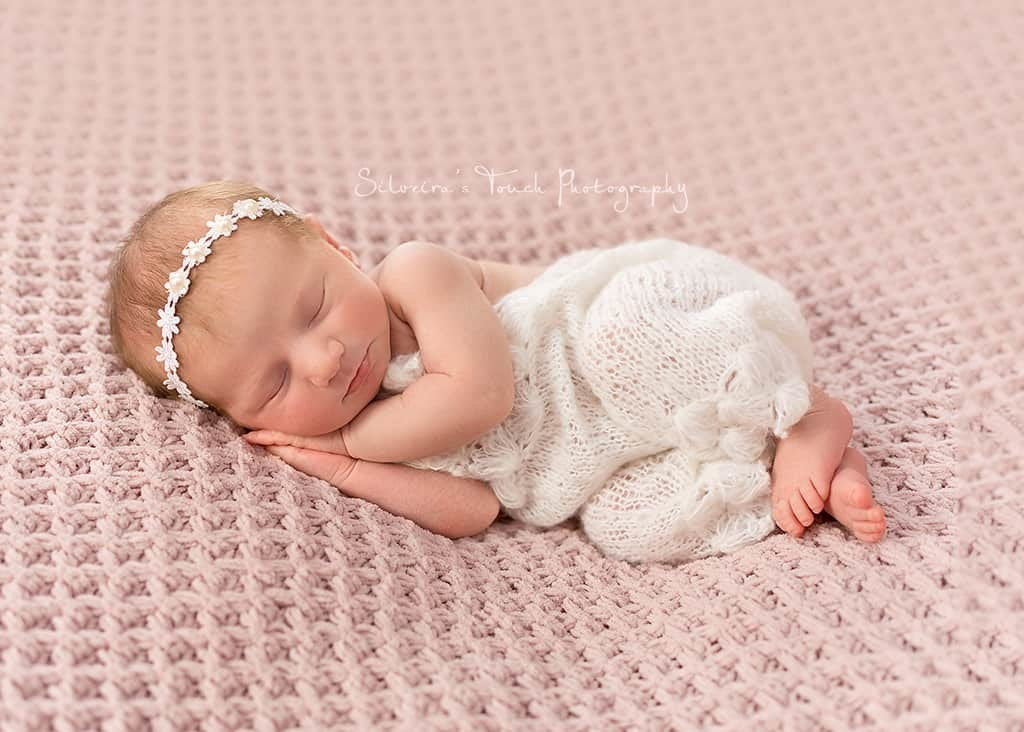 sleeping newborn photography session NJ