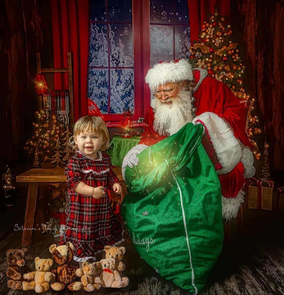 baby christmas photoshoot