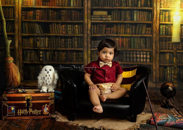 birthday boy 1yr portrait