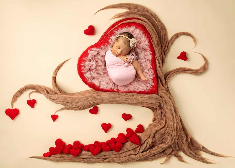 heart shape baby photo