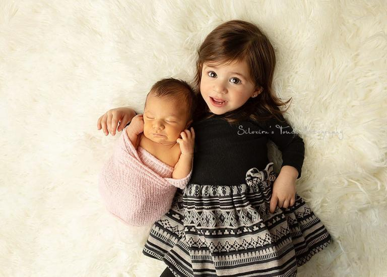 sibling newborn portrait in studio session