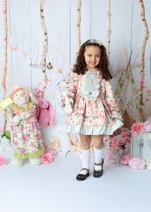 girl wearing dress in easter mini photography