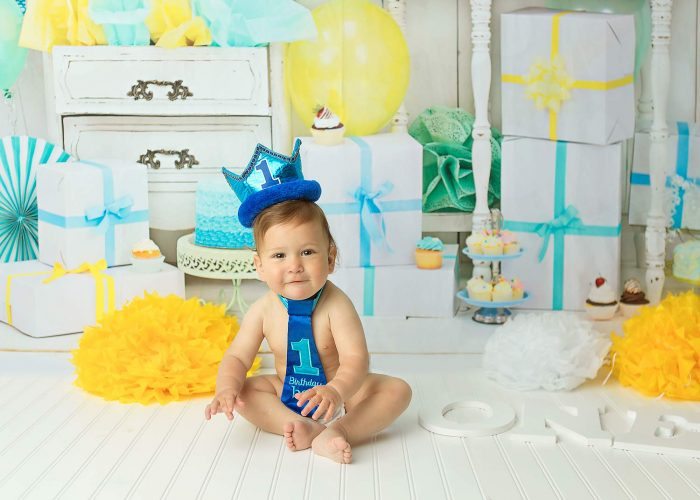 new jersey first birthday cake smash photo session