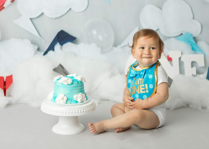 new jersey first birthday cake smash pictures