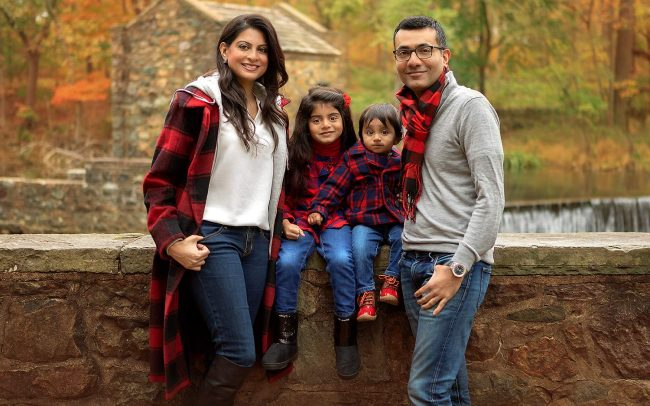 outdoor family portraits new jersey