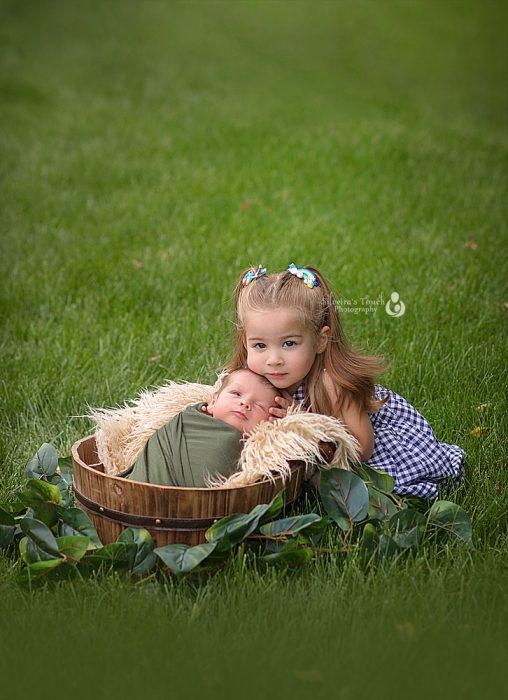 outdoor newborn photography Basking Ridge NJ