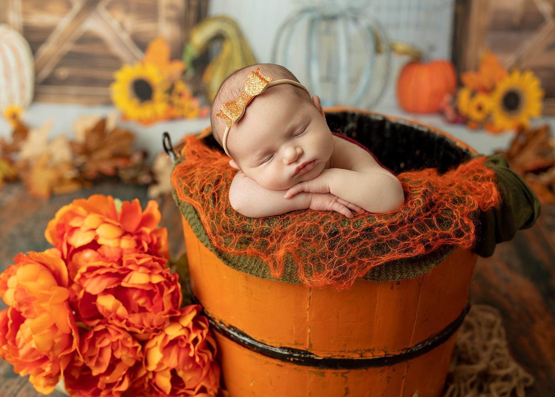 Budd Lake NJ Fall newborn photo shoot