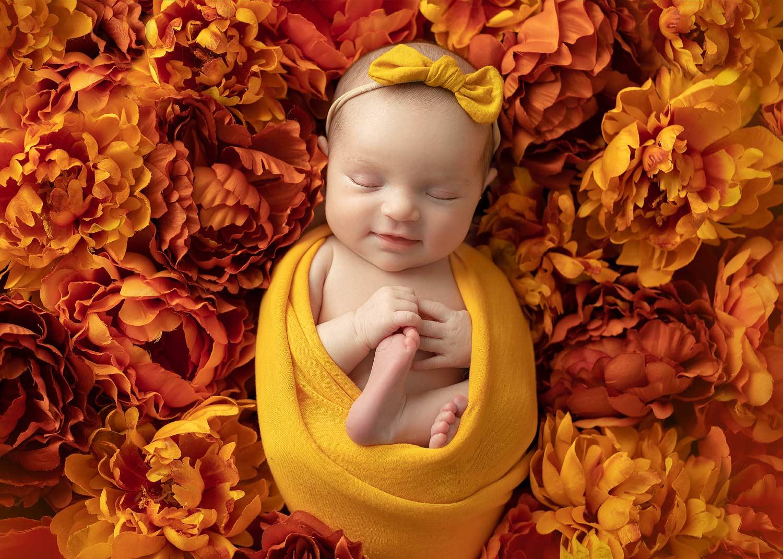 Mount Olive NJ newborn fall photography