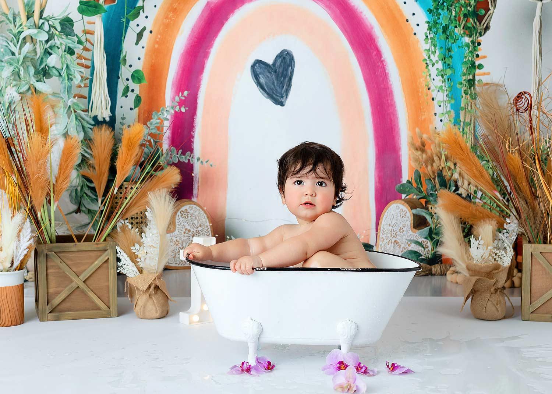 Randolph NJ birthday photo splash bath